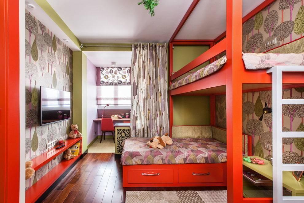 Планировка детской комнаты для двоих детей: 70 идей