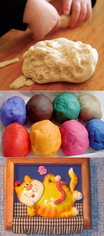 Как сделать соленое тесто для лепки: рецепт