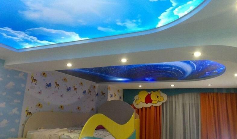 Оформление потолка в маленькой комнате - разные варианты и идеи
