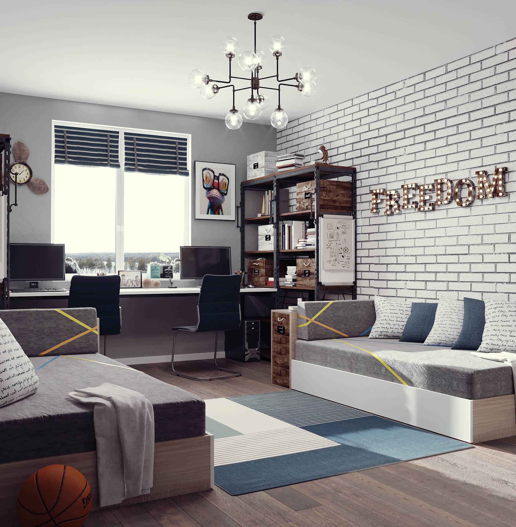 Как продумать дизайн комнаты для подростка мальчика: советы и лучшие решения с фото