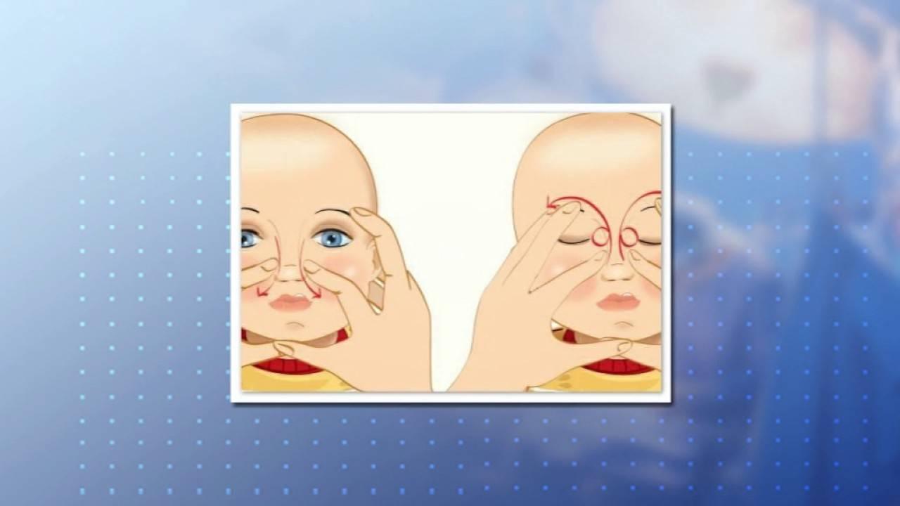 Как делать массаж для открытия слезных каналов при дакриоцистите новорожденному