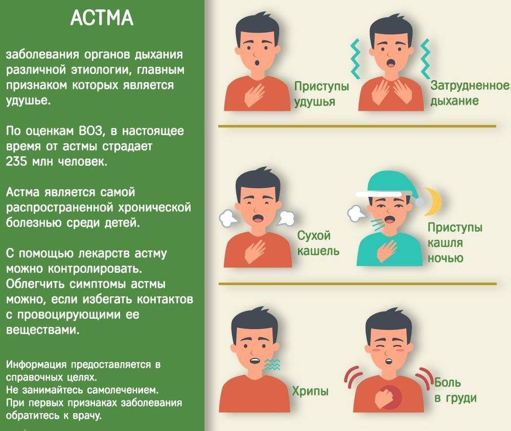 Бронхиальная астма у детей: симптомы и лечение, признаки у ребёнка 2-х лет и грудничка