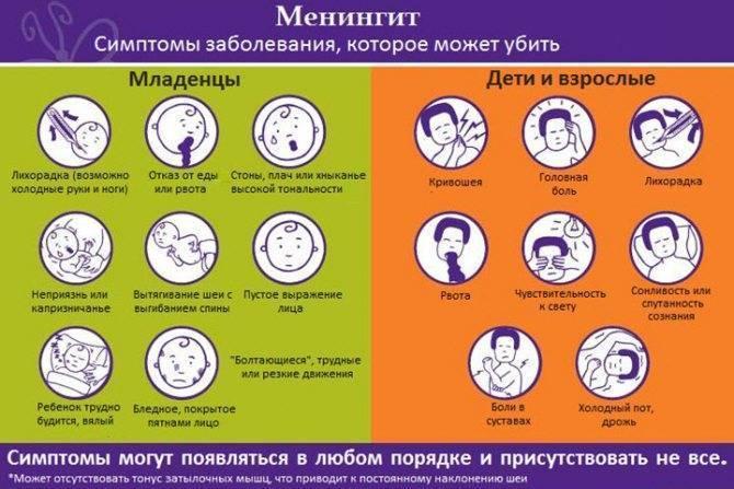 Менингококковая инфекция у детей и взрослых: фото симптомов, лечение, профилактика и последствия заболевания