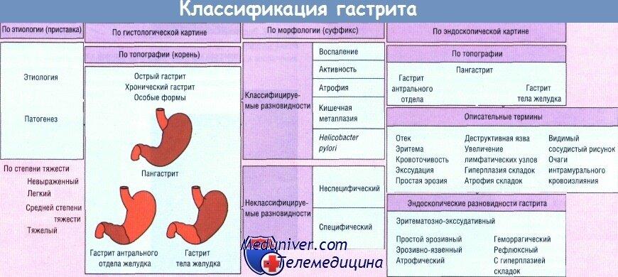 Острый и хронический язвенный гастрит желудка: лечение препаратами и народными средствами