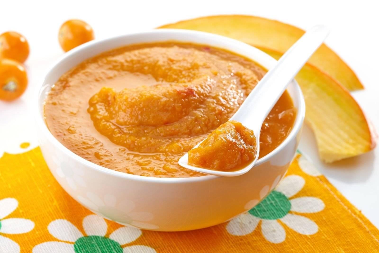 Рецепт тыквенного супа-пюре для детей | меню недели
