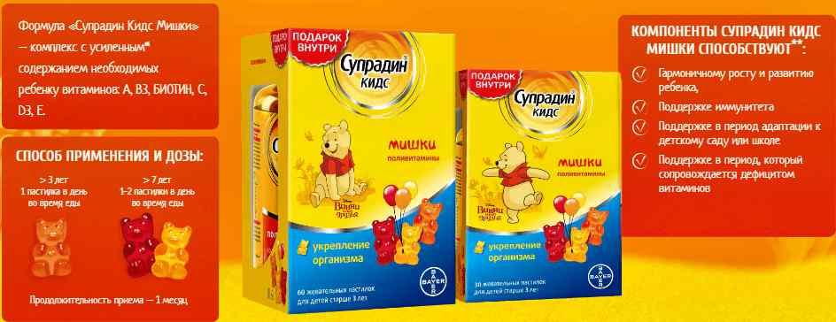 Витаминный комплекс супрадин для здоровья детей