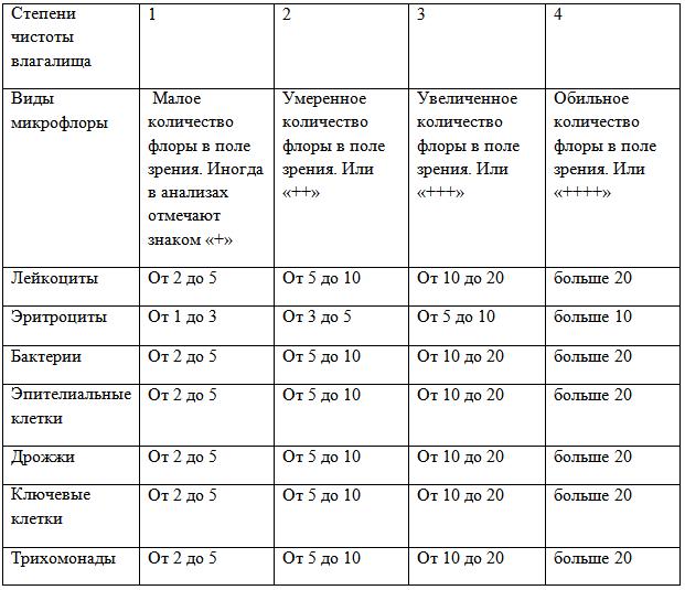 Мазок на флору у женщин. норма, таблица, расшифровка лейкоциты, эритроциты, что показывает при беременности