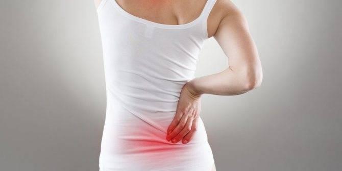 Крестец болит перед месячными: причины, симптомы, лечение