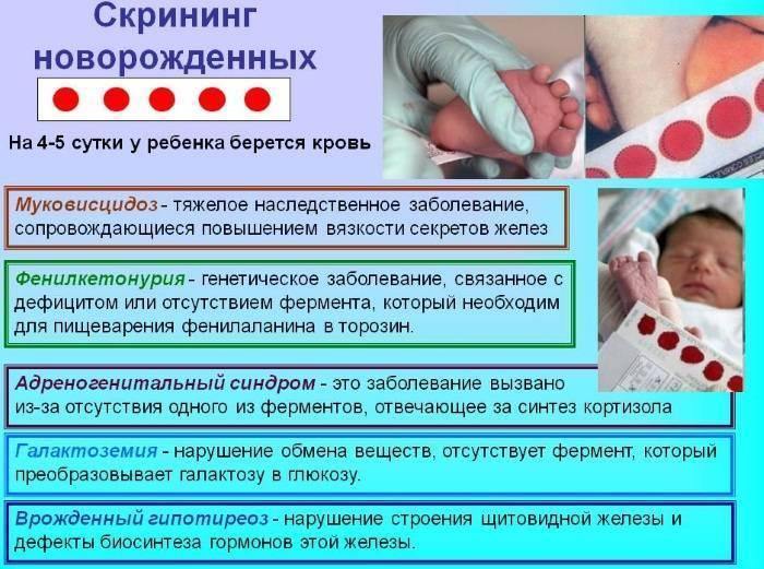 Неонатальный скрининг новорожденных в роддоме на наследственные заболевания (анализ крови из пятки) | диагностика | vpolozhenii.com