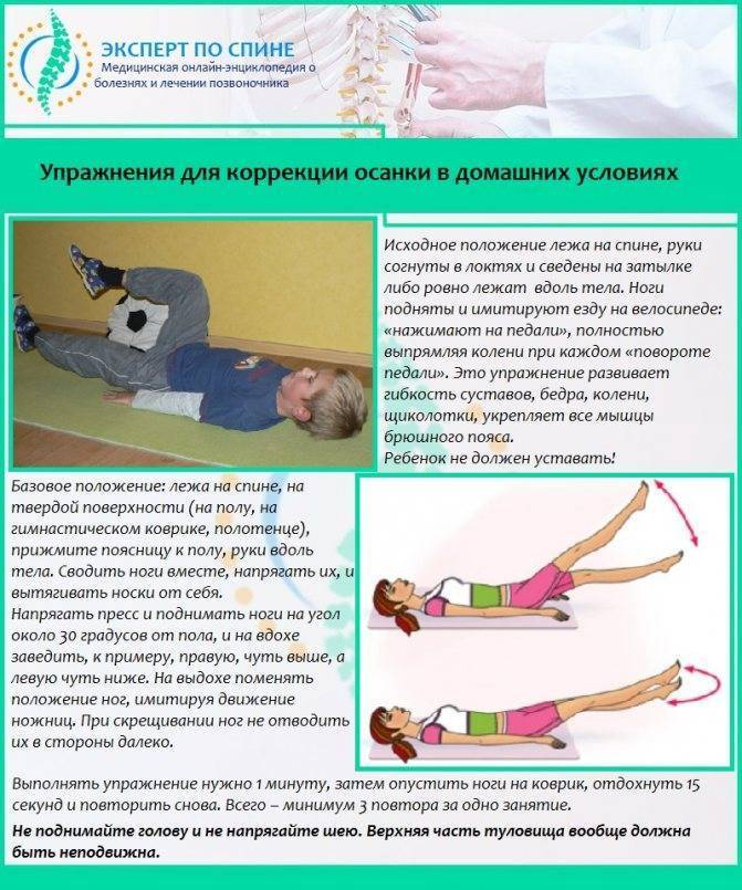Лечебная гимнастика при сколиозе 1 и 2 степени в домашних условиях