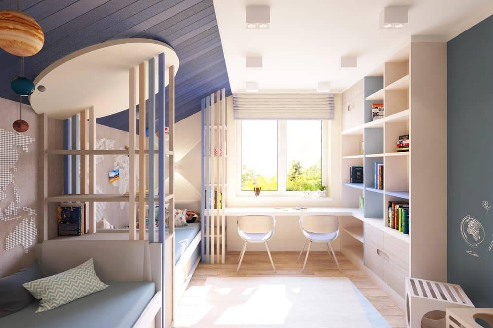 Детская комната для двух мальчиков: дизайн интерьера с фото, планировки для детей разного возраста