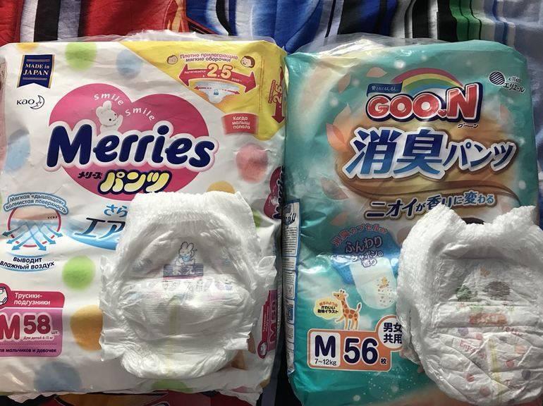 Подгузники goon - отзыв. как выбрать размер подгузников? сравнение goon и merries.