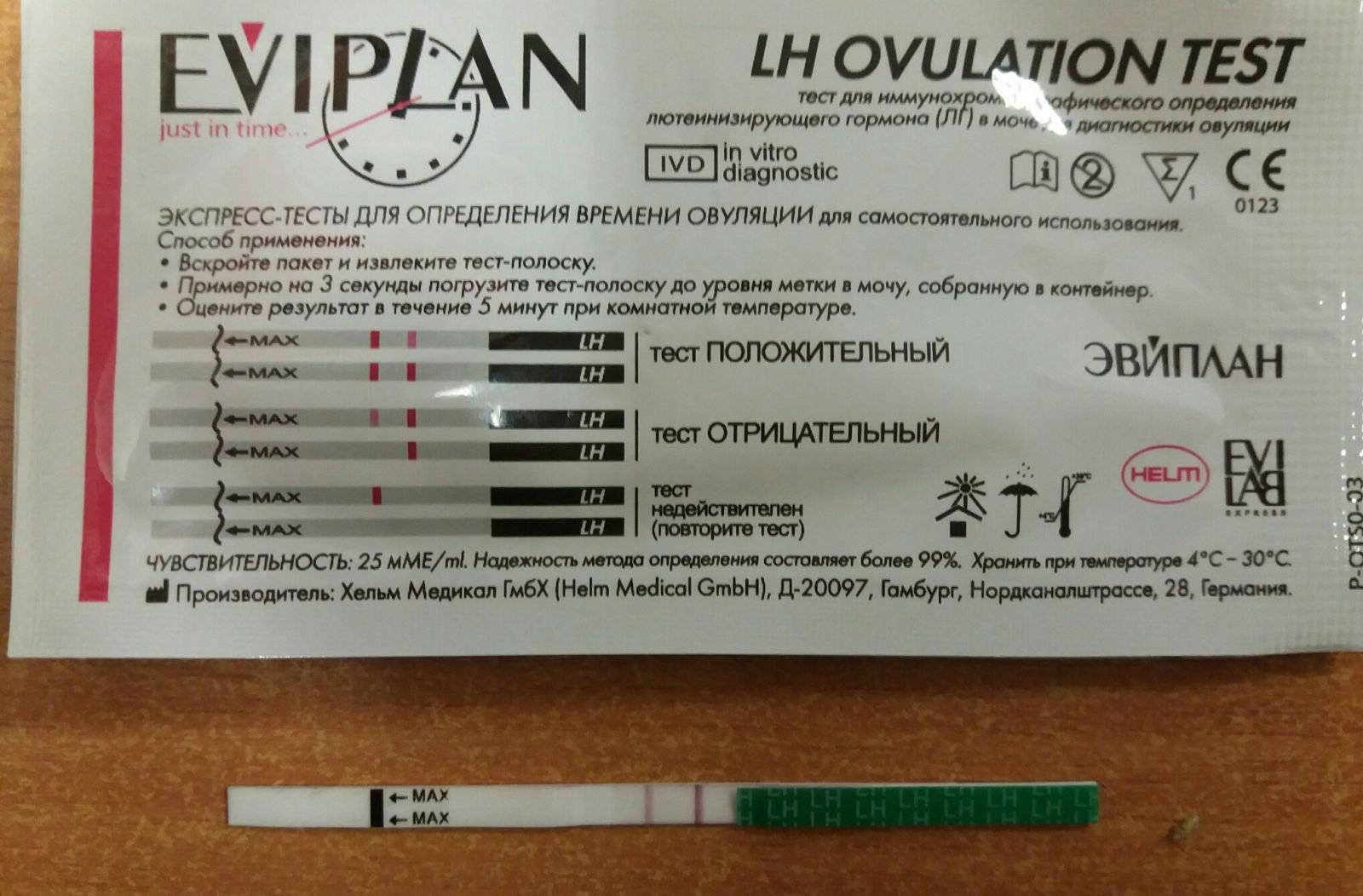 Тест на овуляцию эвиплан