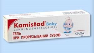 Камистад при прорезывании зубов у младенцев