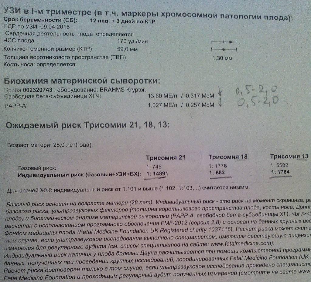 Маркеры хромосомной патологии плода: тесты и расшифровки