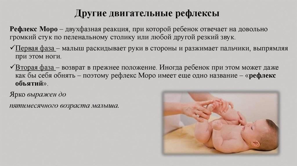 Какие бывают виды рефлексов у новорожденных и их описания