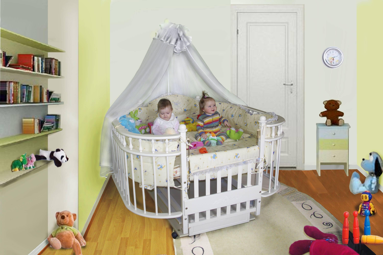 Кроватки для двойни новорожденных: фото, размеры и выбор лучших вариантов
