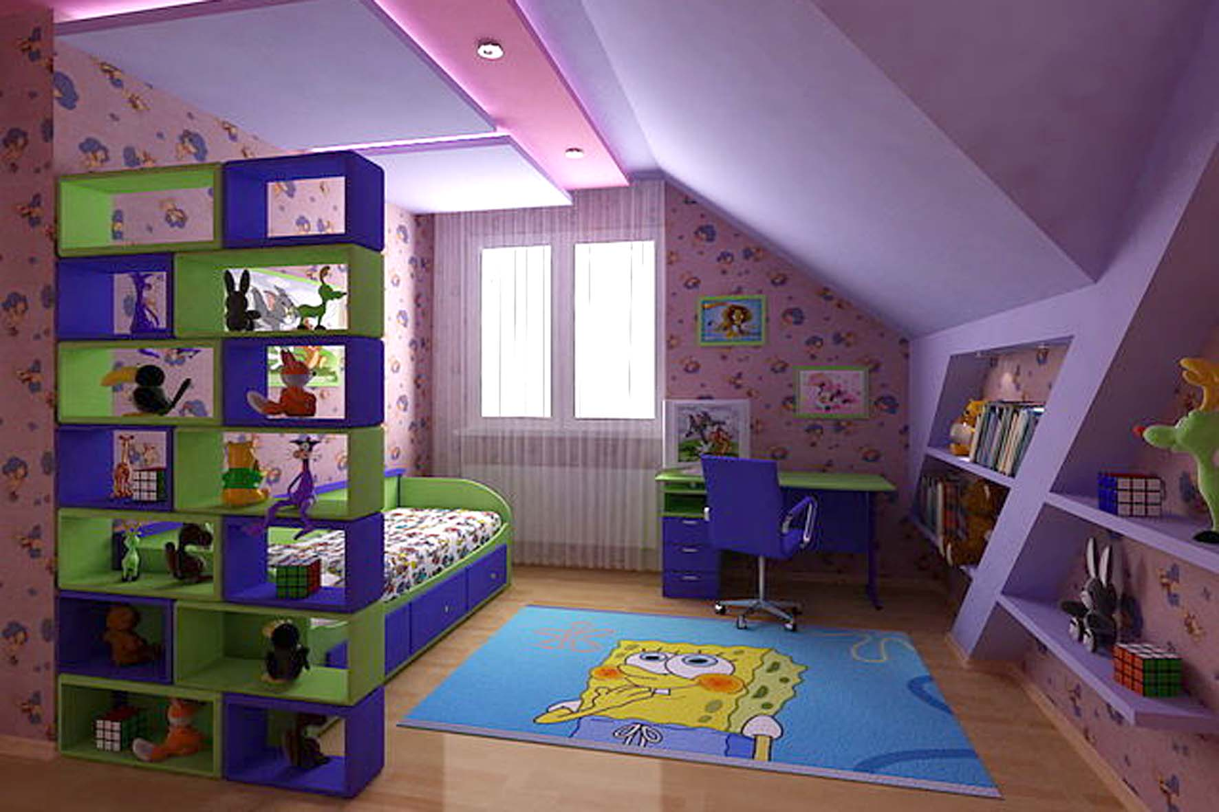 Детская мансардная комната: 24 идеи с фото для воплощения