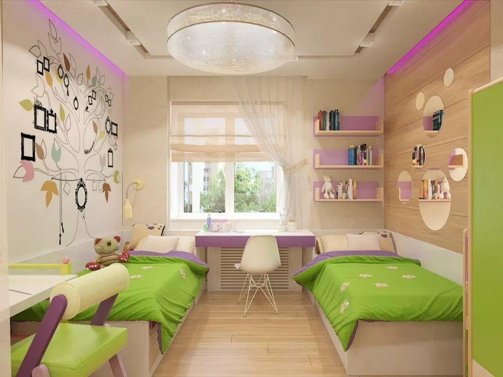 Варианты дизайна детской комнаты площадью 11 кв м