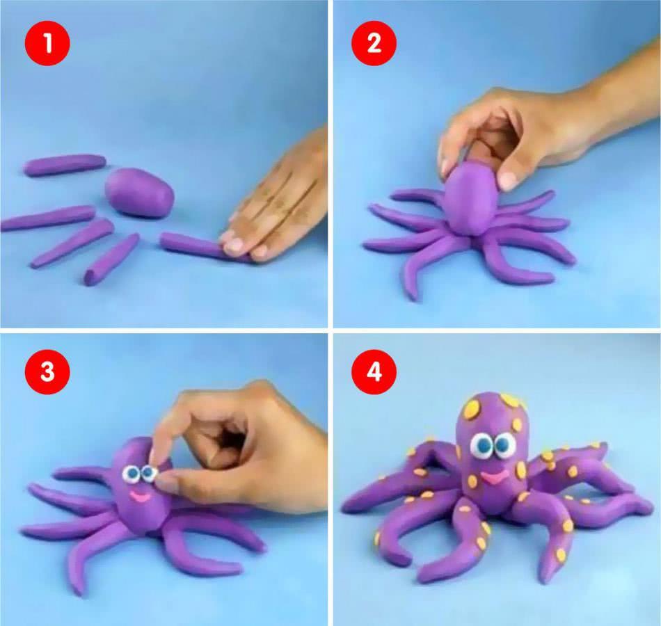 Лепка интересных поделок из пластилина для детей 3-4 лет