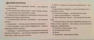 Аптечка для новорожденных, список необходимого, что входит в состав