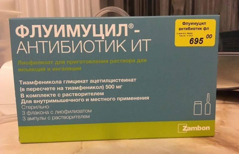 Флуимуцил антибиотик ит для ингаляций инструкция по применению