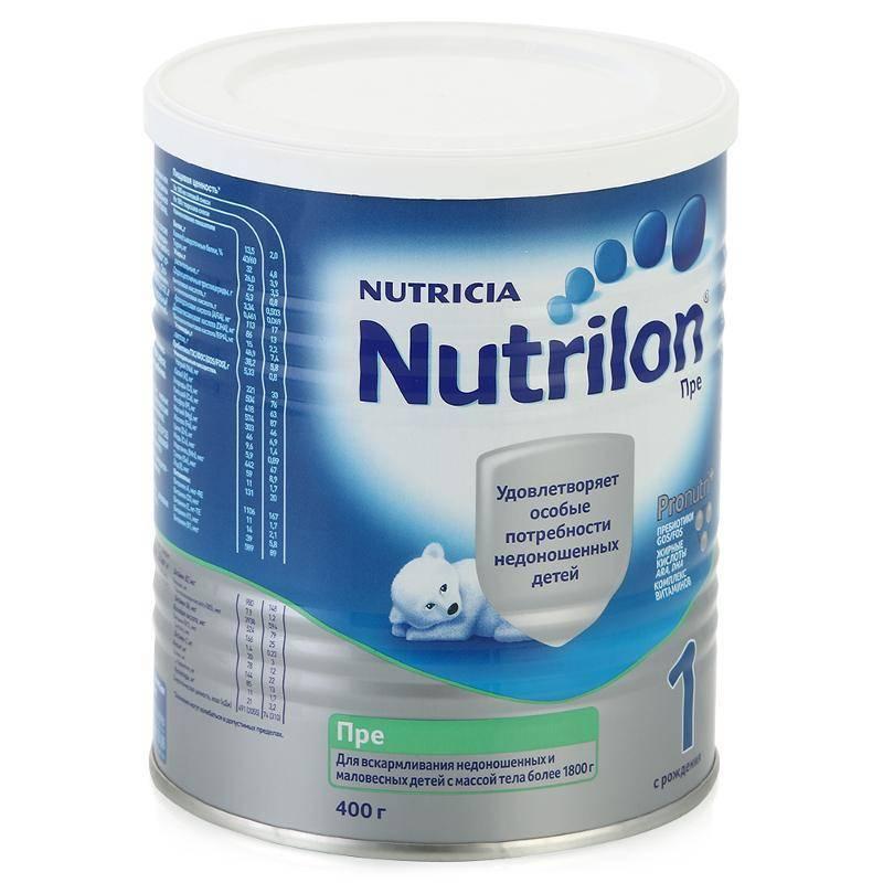 Молочные смеси для недоношенных и маловесных детей