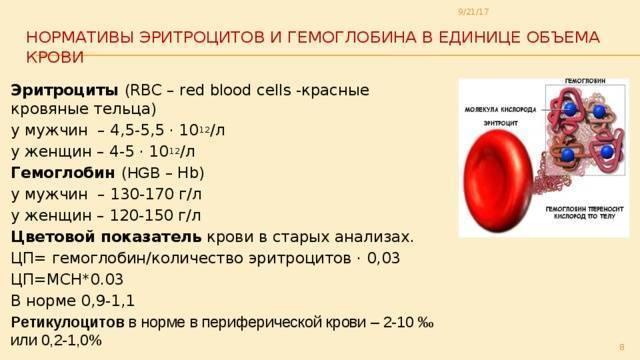Цветовой показатель крови понижен у ребенка: причины и симптомы. цветовой показатель крови понижен