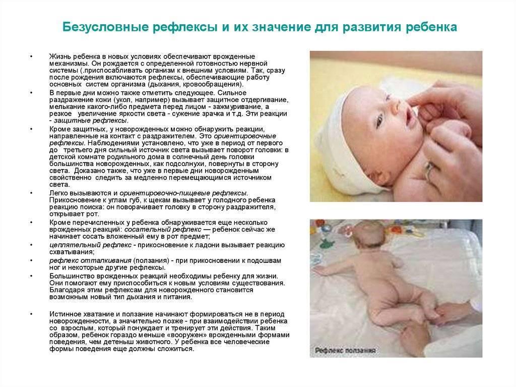 Какими в норме должны быть рефлексы новорожденного
