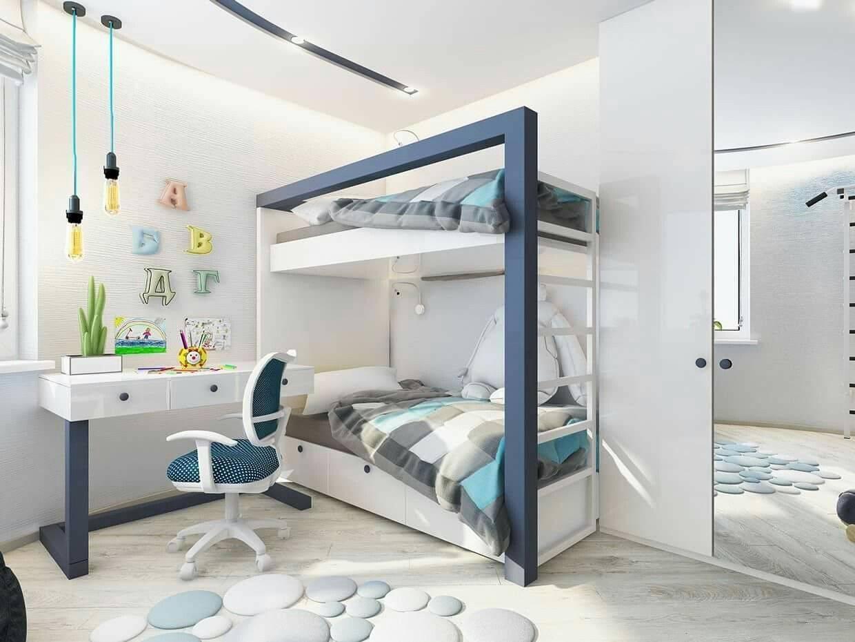 Варианты оформления интерьера в узкой детской спальне