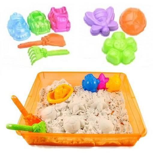 Живой песок для детей — состав массы для лепки, домашняя песочница, хранение набора