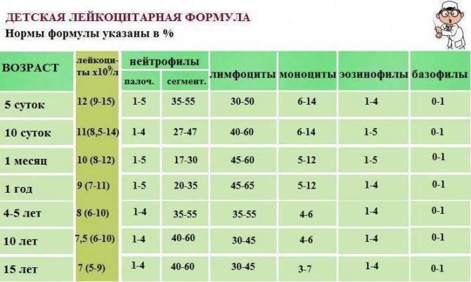 ✅ анализ крови с лейкоформулой расшифровка у детей норма в таблице - денталюкс.su