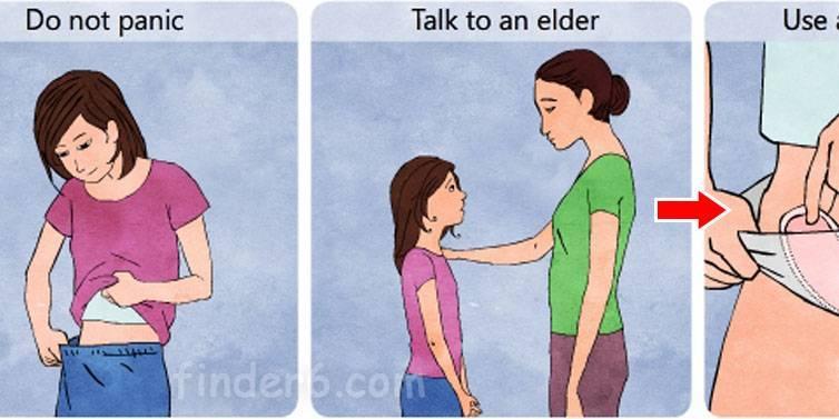 Как рассказать дочери о месячных