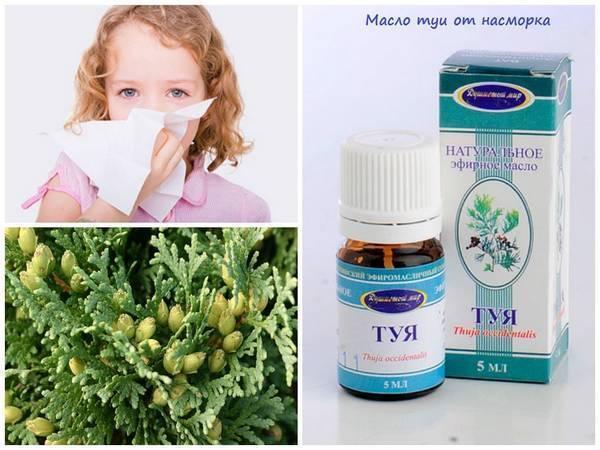 Масло туи при аденоидах, насморке для детей: инструкция по применению