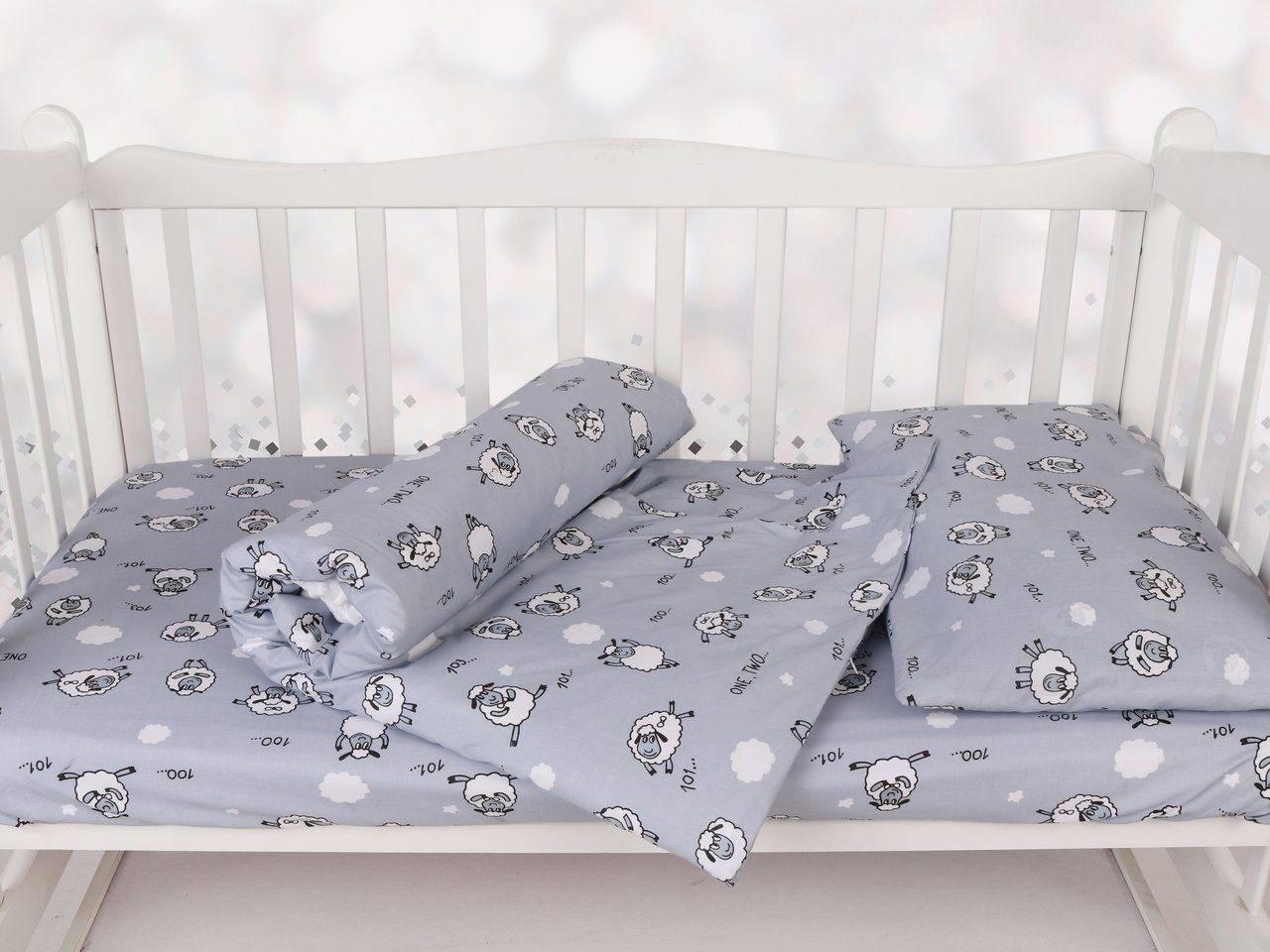 Размеры детского постельного белья в детскую кроватку: стандарты