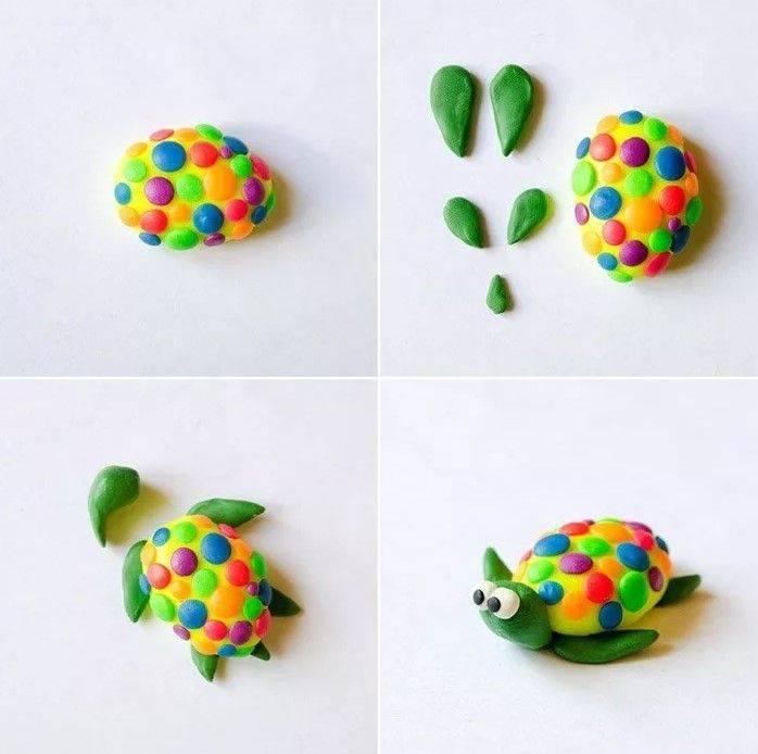 Поэтапная лепка фигурок из пластилина для детей 3-4 лет