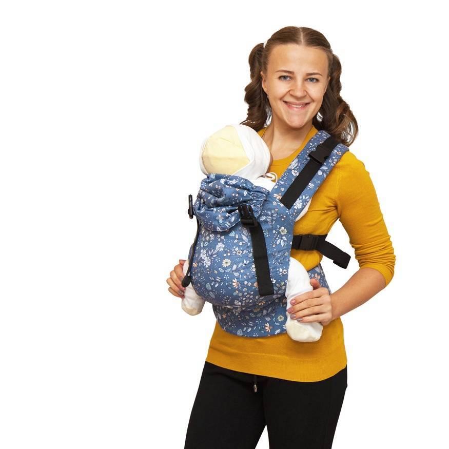 Переноска для новорожденных на себе детская сумка кенгуру рюкзак-люлька, слинг, горизонтальная с 0 месяцев