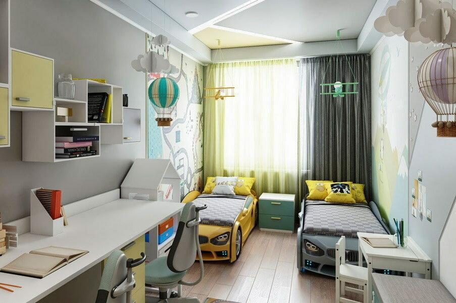Дизайн детской комнаты для девочки 12 кв м -100 фото