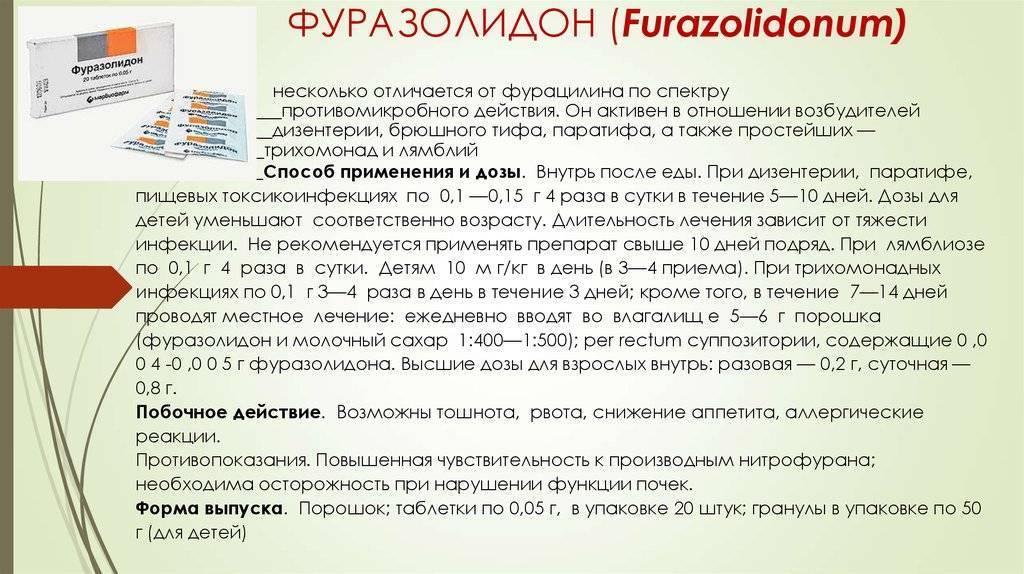 Как лучше давать фуразолидон детям: подробная инструкция по применению