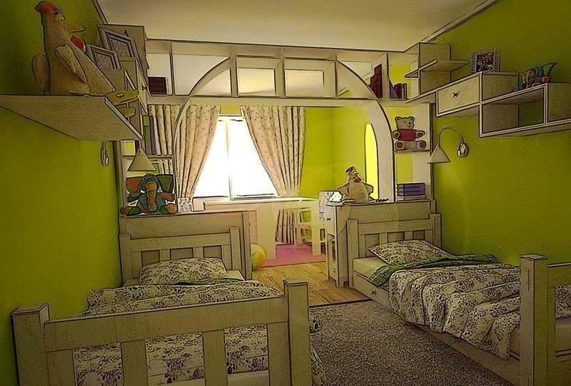 Трое детей в одной детской — особенности дизайна интерьера