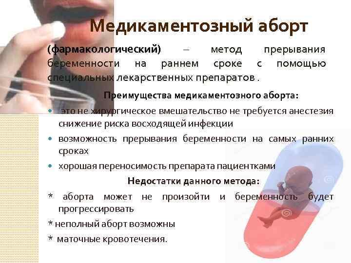 Таблетки для прерывания беременности без рецепта - медицинская помощь