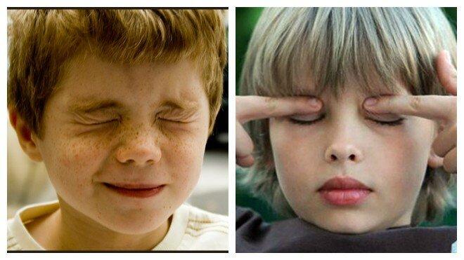 Ребенок 2 года часто моргает глазами причины и лечение