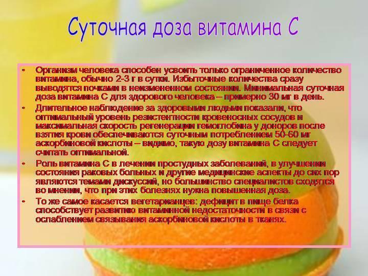 Правила приема аскорбиновой кислоты