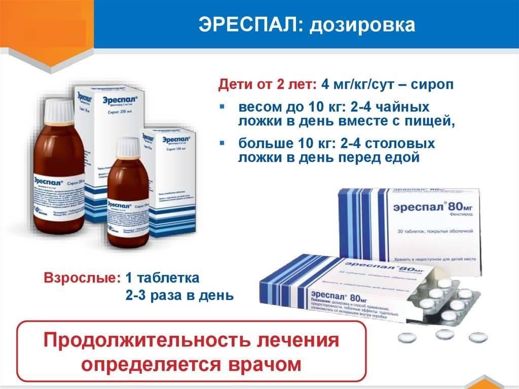 Эреспал - сироп для детей: инструкция по применению