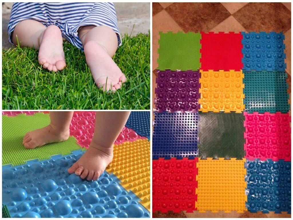 Ортопедический и массажный пазл коврик от плоскостопия для детей