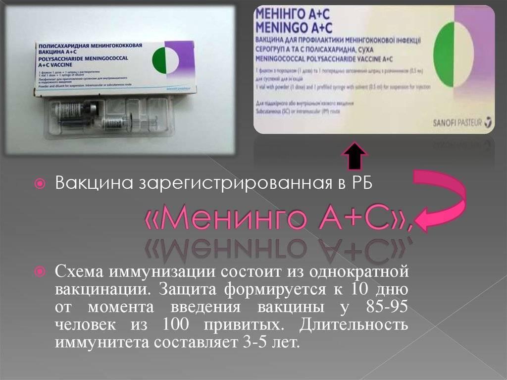 Прививка против менингита детям