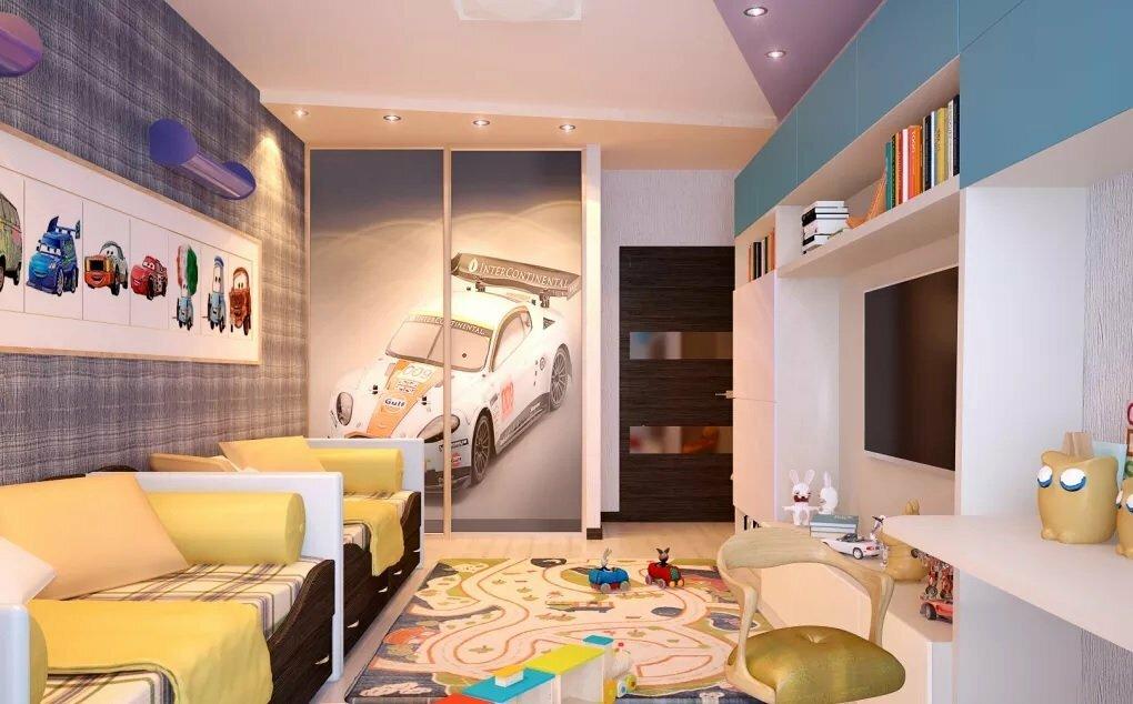 Дизайн детской комнаты для двоих: как правильно оформить интерьер, для мальчиков, девочек или разнополых детей с примерами на фото, плюсы двухъярусной кровати