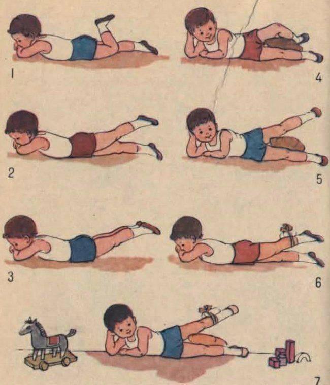 Массаж и гимнастика для ребенка с 6 до 9 месяцев: зарядка и видео-уроки с упражнениями для укрепления мышц спины - все о суставах