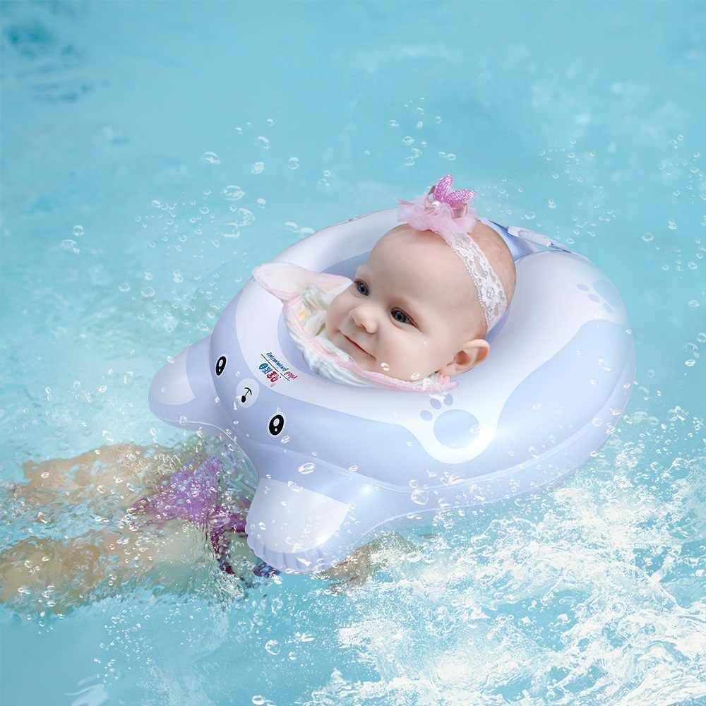 С какого месяца можно использовать надувной круг на шею для плавания и купания младенцев — топотушки
