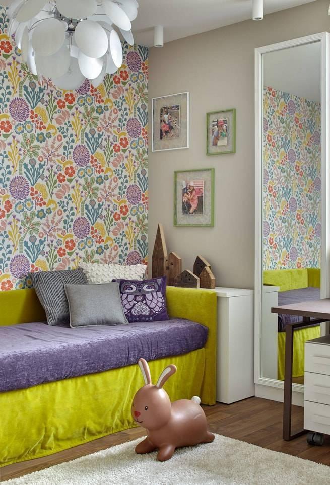 Оформление детской комнаты комбинированными вариантами обоев